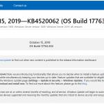 Windows10のEdgeが起動しない場合修正パッチKB4520062を当てたら復旧した
